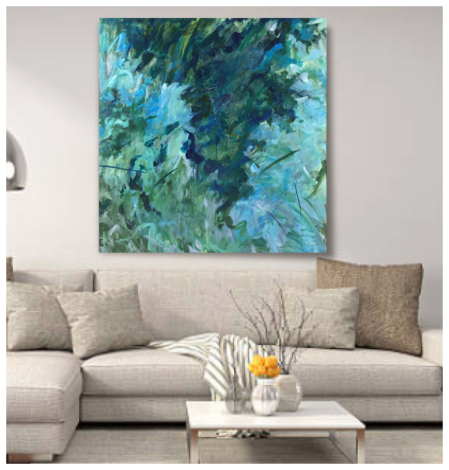 Exhilarated - Original acrylic painting by Eric Soller