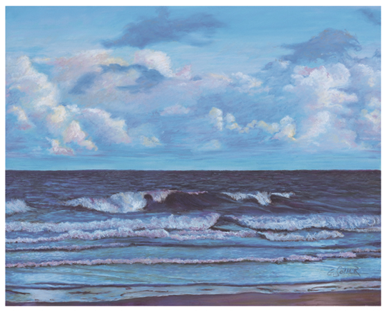 Atlantic, Original pastel painting by the fine artist Eric Soller