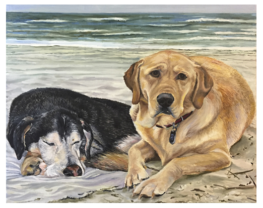 Bailey and Breeze, Original oil painting by artist Eric Soller