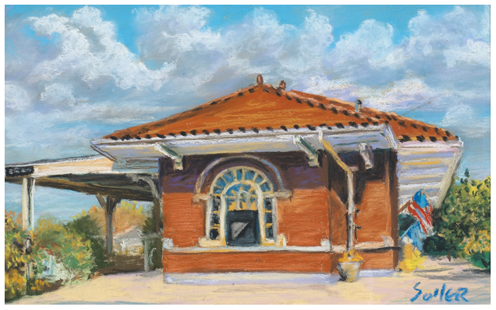 Berea Train Station, Original pastel painting by the fine artist Eric Soller
