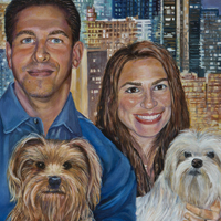 Brian And Milta - Original oil painting by Eric Soller