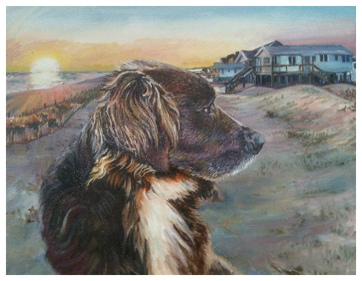 At the Beach House, Original oil painting by artist Eric Soller