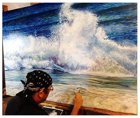 Big Wave - Original oil painting by Eric Soller