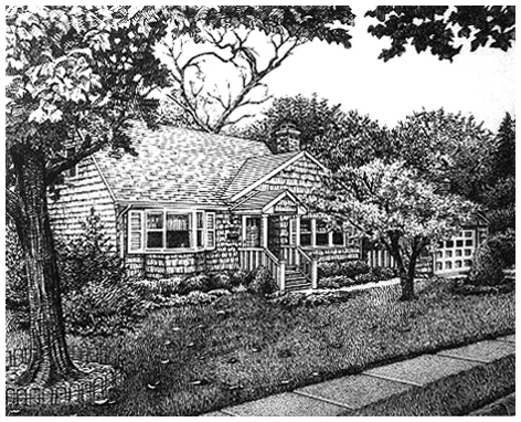 Joan's Pen & Ink, Original pen and ink by the fine artist Eric Soller