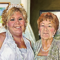 Mother and Bride - Original oil painting by Eric Soller