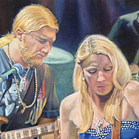 Tedeschi Trucks Band - Original oil painting by Eric Soller