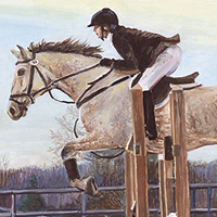 The Jump - Original oil painting by Eric Soller