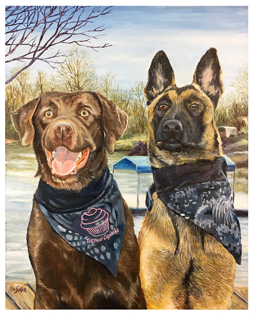 Thea and Turbo, Original oil painting by artist Eric Soller